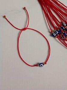 1 New Blue String Kabbalah Bracelet Goldfilled  Bead Good Luck Charm Protection