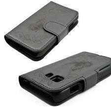 Black Holster Phone Leather Cover Case For Samsung Galaxy Young 2 Duos SM-G130