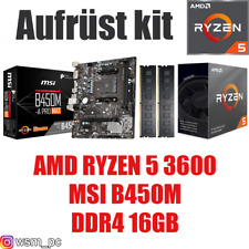 PC Bundle Kit Set ❄ AMD Ryzen 5 3600 ✔ MSI B450 Mainboard ✔ DDR4 16GB 3000 ✔