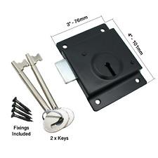 Press Lock Face Fixing Shed Gate Door Presslock Deadlock with 2 KEYS and SCREWS