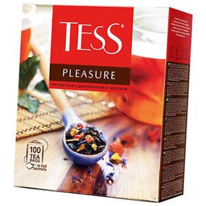 Tess Schwarztee Pleasure exotische Früchte 100 Teebeutel