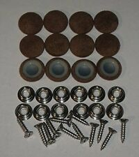12 Pieces #30 Dura Snap Buttons RV Trailer Brown Fabric