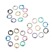 27Pcs Stainless Steel Balls Captive Beads Labret Lip Tragus Nose Hoop Ring