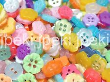 200pcs Flower Shape Buttons Assorted Colors 8-13mm Sewing B188