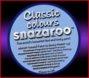 SNAZAROO 50 FACE PAINT 18ML POT PALE BLUE