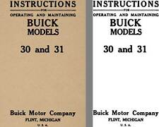 Buick 1913 - Instructions for Operating and Maintaining Buick Models 30 & 31 (No