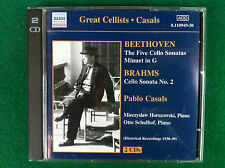 2 CD Musica , CASALS BEETHOVEN BRAHMS - CELLO SONATAS, Naxos 8.110949-50 (2001)