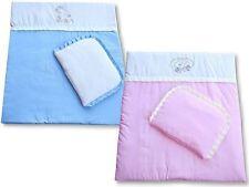 Decke + Kissen / Kinderwagenset Baumwolle Top Qualität