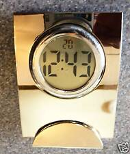 Desk clock with digital works and solid metal case NEW