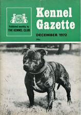 STAFFORDSHIRE BULL TERRIER DOG Cover KENNEL GAZETTE December 1972 KC Publication