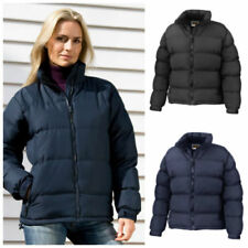 Patternless Hip Length Quilted Coats & Jackets for Women