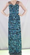 $448 NEW WOMEN BCBG MAX AZRIA Jenine Blue Surf Combo Licrystal  SZ 6=28 Maxi