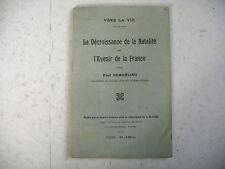 DECROISSANCE DE LA NATALITE AVENIR DE LA FRANCE P. Gemähling