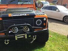 "LAND Rover Defender 7"" Nero LED ad alta fuori messo HEAD LIGHTS 60 Watt luce diurna Halo"