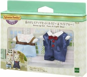 Sylvanian Families Calico Critters TD-01 Dress Up Set (navy & light blue)