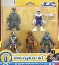 Fisher Price Imaginext DC Friends & Villains 5 Figure Batman Cyborg Blue Beetle