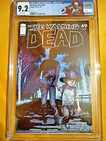 THE WALKING DEAD #49 - CGC 9.2 - WHITE PAGES - NEW SLAB - CUSTOM LABEL FREE SHIP