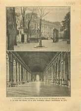 Traité de paix du Trianon Versaille Galerie des Glaces Germany 1919 ILLUSTRATION