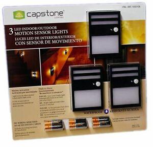 New Capstone Lighting Motion Sensor LED Light Outdoor/Indoor Waterproof 3 pack