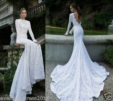 Custom New white/ivory Wedding dress Bridal Gown custom size 6 8 10 12 14 16 18+