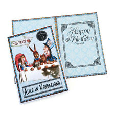 NEW Card Alice in Wonderland UN Birthday Vintage Card-Tea party-Mad hatter