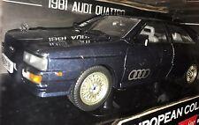 1981 AUDI QUATTRO DARK NAVY BLUE 1/18 DIECAST MODEL CAR SUN STAR
