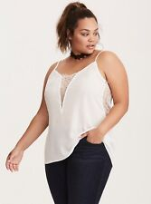 Torrid Ivory Lace Inset Came Top 1x