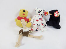 Ty Beanie Babies and Winnie The Pooh Bear Stuffed Animals