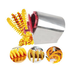 Manual Potato Twister Tornado Slicer Cutter Spiral Cutting Machine Shredders