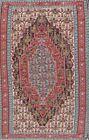 Masterpiece Vegetable Dye Geometric Handwoven Wool Senneh Kilim Oriental Rug 5x8