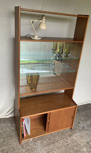 Retro Teak Room Divider By Gibbs Furniture - Wall Unit - Bookcase Record Cabinet