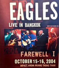 "Eagles - Farewell Tour Live in Bangkok 2004 - Huge 79"" x 32"" Cloth Wall Poster"
