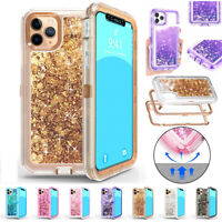 For iPhone 11/Pro/Max Glitter Liquid Quicksand Shockproof Bling Phone Case Cover