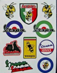 VESPA scooter stickers waterproof vinyl