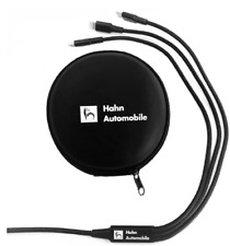 Hahn Automobile 3 in 1 Ladekabel Apple Android und USB-C inkl. Case