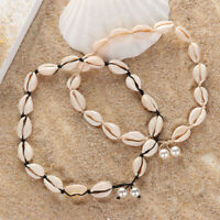 Fashion Bib Collar Rope Chain Seashell Necklace Beach Choker Natural Shell