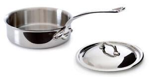 Mauviel M'cook 3.4 Qt Saute Pan & Lid w/ Cast SS Handle 5211.25 NEW
