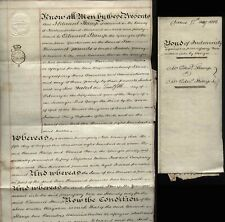 More details for 1812 alnwick edward stamp indemnity bond £6000- thomas stamp of white house