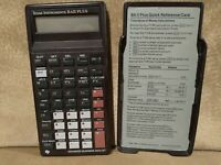 Texas Instruments BA II Plus Business Analyst Calculator With Cover Untested