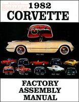 CORVETTE 1982 MANUAL PARTS ASSEMBLY RESTORATION BOOK CHEVROLET