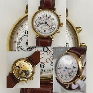 Le Reveil Vintage Chronograph Watch Valjoux 7765 17 Jewels