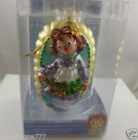hand crafted glass Christmas Ornament Cute Raggedy Ann