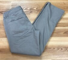 DAMAGED Adidas Men's Brown Khaki Flat Front Pants Sz 32 X 32