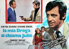 Affiche Italienne 46x65cm LA SIRÈNE DU MISSISSIPI 1969 Truffaut Belmondo Deneuve