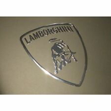 1 X LAMBORGHINI Metallico Adesivi Auto Cromato 7 in vinile 27 mm x 30 mm 10 8 Windows
