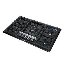 "34"" Black Titanium Stainless Steel 5 Burner Built-In Stoves Gas Cooktop Cooker"