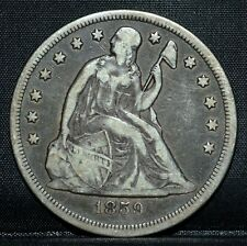 1859-O $1 SEATED LIBERTY DOLLAR ✪ VF VERY FINE ✪ SILVER COIN L@@K NOW ◢TRUSTED◣