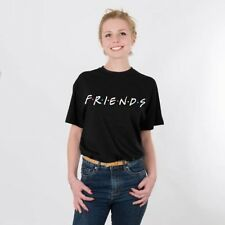 FRIENDS Letter Printed Womens T-Shirt Cotton Good Friends Tee Tops Casual Loose