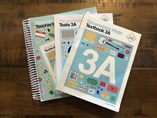 Dimensions Math 3A Teacher's Guide,Textbook 3A & Test Book 3A