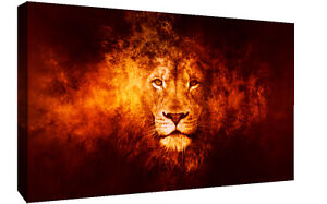 Abstract Lion CANVAS WALL ART Picture Print, A1, A2 Various sizes